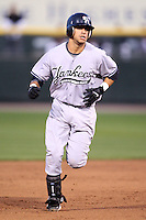 September 4, 2009:   Reegie Corona of the Scranton Wilkes-Barre Yankees rounds the bases after hitting a home run to right during a game at Frontier Field in Rochester, NY.  Scranton is the Triple-A International League affiliate of the New York Yankees and clinched the North Division Title with a victory over Rochester.  Photo By Mike Janes/Four Seam Images