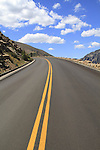 Trail Ridge Road in Rocky Mountain National Park, west of Estes Park, Colorado, USA