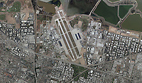 aerial photo map Moffett Field, Mountain View, California