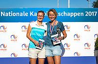 Etten-Leur, The Netherlands, August 27, 2017,  TC Etten, NVK, Winner woman's  40+ , Mireille Bink (R) and runner up Regina Balcune.<br /> Photo: Tennisimages/Henk Koster