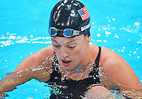 July 30, 2012..Allison Schmitt of USA exits the pool after competing in women's 200m freestyle semifinal at the Aquatics Center on day three of 2012 Olympic Games in London, United Kingdom.