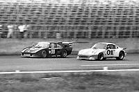 Bill Whittington, #00 Porsche, and   J. Kurt Roehrig, Dave White, #01 Porsche,   Paul Revere 250, Daytona International Speedway, Daytona Beach, Florida, July 4, 1981. (Photo by Brian Cleary/ www.bcpix.com)