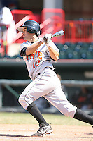 April 15th 2008:  Infielder Carlos Rojas (12) of the Bowie Baysox, Class-AA affiliate of the Baltimore Orioles, during a game at Jerry Uht Park in Erie, PA.  Photo by:  Mike Janes/Four Seam Images