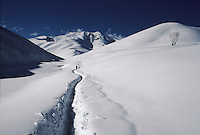 A fox road to the Bamiyan valley at 3352 meters high on the Wonay Pass in the Baba Range who culminate at 5100 meters high.