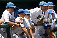 UCLA bench in Game 13 of the NCAA Division One Men's College World Series on June 26th, 2010 at Johnny Rosenblatt Stadium in Omaha, Nebraska.  (Photo by Andrew Woolley / Four Seam Images)