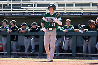 CARY, NC - FEBRUARY 23: Henry Martinez #38 of Wagner College walks to the plate during a game between Wagner and Penn State at Coleman Field at USA Baseball National Training Complex on February 23, 2020 in Cary, North Carolina.