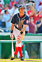 30 May 2011: Washington Nationals outfielder Rick Ankiel in action against the Philadelphia Phillies at Nationals Park in Washington, District of Columbia. The Phillies defeated the Nationals 5-4 to take the first game of their 3-game series. Mandatory Credit: Ed Wolfstein Photo