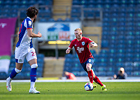24th April 2021; Ewood Park, Blackburn, Lancashire, England; English Football League Championship Football, Blackburn Rovers versus Huddersfield Town;  Lewis O'Brien of Huddersfield Town on the ball