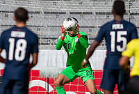 GUADALAJARA, MEXICO - MARCH 28: David Ochoa #20 of the United States with a save during a game between Honduras and USMNT U-23 at Estadio Jalisco on March 28, 2021 in Guadalajara, Mexico.