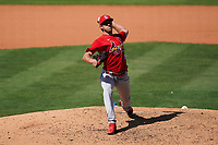 St. Louis Cardinals pitcher Matthew Liberatore (52) during a Major League Spring Training game against the New York Mets on March 19, 2021 at Clover Park in St. Lucie, Florida.  (Mike Janes/Four Seam Images)