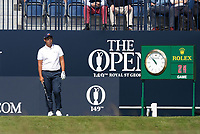 15th July 2021; Royal St Georges Golf Club, Sandwich, Kent, England; The Open Championship, PGA Tour, European Tour Golf, First Round ; Byeong Hun An (KOR) prepares to hit his tee shot on the opening hole