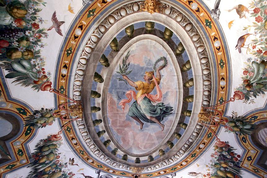 Affreschi nel Castello di Torrechiara.<br /> Frescoes in the Castle of Torrechiara.<br /> UPDATE IMAGES PRESS/Riccardo De Luca