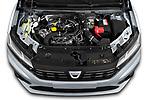 High angle engine detail of a 2021 Dacia Sandero Comfort 5 Door Hatchback