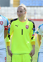 20180307 - LARNACA , CYPRUS : Czech Barbora Votikova pictured during a women's soccer game between  Slovakia and the Czech Republic , on Wednesday 7 March 2018 at the GSZ Stadium in Larnaca , Cyprus . This is the final game in a decision for 9 th or 10 th place of the Cyprus Womens Cup , a prestigious women soccer tournament as a preparation on the World Cup 2019 qualification duels. PHOTO SPORTPIX.BE   DAVID CATRY