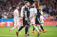 Spain Daniel Carvajal and Argentina Nicolas Otamendi during friendly match between Spain and Argentina at Wanda Metropolitano in Madrid , Spain. March 27, 2018. (ALTERPHOTOS/Borja B.Hojas) /NortePhoto.com NORTEPHOTOMEXICO