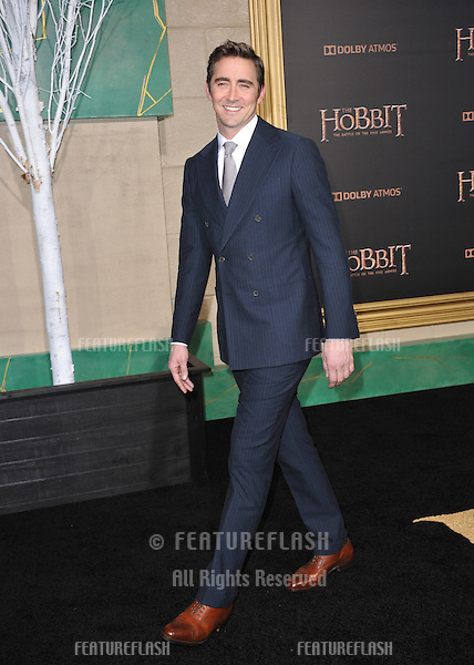 """Lee Pace at the Los Angeles premiere of his movie """"The Hobbit: The Battle of the Five Armies"""" at the Dolby Theatre, Hollywood.<br /> December 9, 2014  Los Angeles, CA<br /> Picture: Paul Smith / Featureflash"""