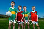 U9 team members at John Mitchels GAA Underage Academy on Sunday. L to r: Tom O'Sullivan, Kyle Moloney, Conor Stewart and Jack O'Shea.