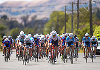 Riders sprint to the finish line during stage four of the NZ Cycle Classic UCI Oceania Tour in Wairarapa, New Zealand on Wednesday, 25 January 2017. Photo: Dave Lintott / lintottphoto.co.nz