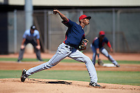 Cleveland Indians pitcher Triston McKenzie (45) during an instructional league game against the Milwaukee Brewers on October 8, 2015 at the Maryvale Baseball Complex in Maryvale, Arizona.  (Mike Janes/Four Seam Images)