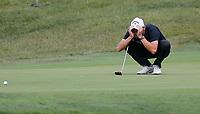 4th July 2021; Mount Juliet Golf Club, Kilkenny, Ireland; Dubai Duty Free Irish Open Golf, Day Four; Maximilian of Germany lines up his putt on the 7th hole