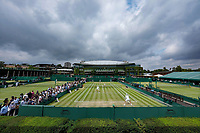 3rd July 2021; Wimbledon, SW London. England; Wimbledon Tennis Championships, day 6;  The outsie courts at 2021 Wimbledon Championships
