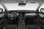 Stock photo of straight dashboard view of a 2019 Volvo V90 Momentum 5 Door Wagon
