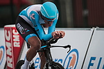 Nils Politt (GER) Israel Start-Up Nation in action during Stage 4 of the 78th edition of Paris-Nice 2020, and individual time trial running 15.1km around Saint-Amand-Montrond, France. 11th March 2020.<br /> Picture: ASO/Fabien Boukla | Cyclefile<br /> All photos usage must carry mandatory copyright credit (© Cyclefile | ASO/Fabien Boukla)