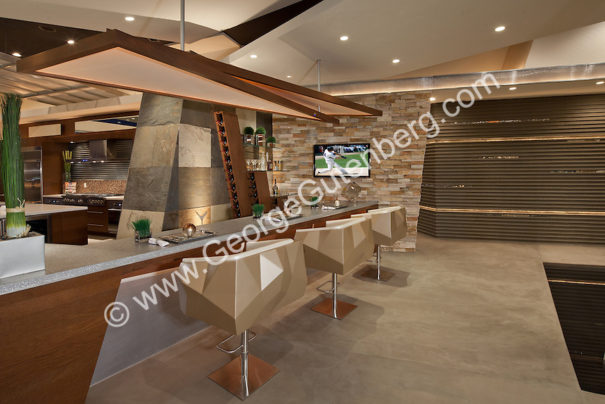 Stock photo of ultra modern residential kitchen