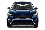 Car photography straight front view of a 2020 KIA Niro-Plug-In-Hybrid EX-Premium 5 Door Hatchback Front View