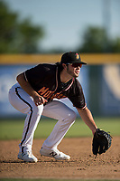 Modesto Nuts third baseman Joe Rizzo (20) during a California League game against the San Jose Giants at John Thurman Field on May 9, 2018 in Modesto, California. San Jose defeated Modesto 9-5. (Zachary Lucy/Four Seam Images)