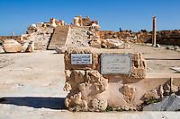 Sabratha, Libya, North Africa - Roman ruins.  Antonine Temple, 2nd century, reconstructed 1920s.