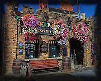 A view of Ireland's oldest pub, The Brazen Head, dating back to 1198.