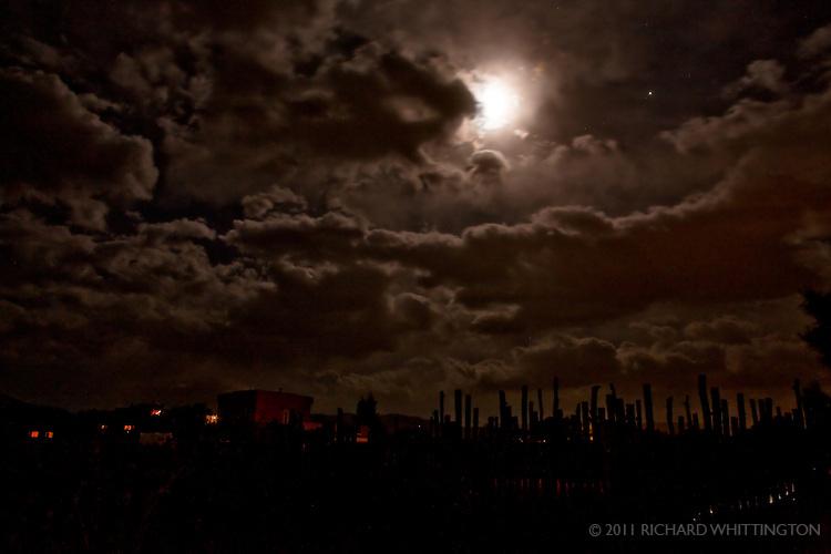 Midnight sun, El Prado, New Mexico.