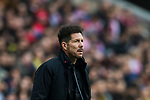 Coach Diego Simeone of Atletico de Madrid reacts during the La Liga 2017-18 match between Atletico de Madrid and UD Las Palmas at Wanda Metropolitano on January 28 2018 in Madrid, Spain. Photo by Diego Souto / Power Sport Images