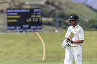 20th November 2020; John Davies Oval, Queenstown, Otago, South Island of New Zealand. NZ A's Rachin Ravindra during New Zealand A versus  West Indies