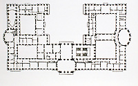 Diagram showing the geometry of the floor plan: ovals and circles meet rectangles. Basilica of the Fourteen Holy Helpers, Balthasar Neumann ???