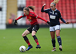 Ella Toone of Manchester United Women and Evie Clarke of Millwall Lionesses