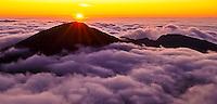 Sunrise over Haleakala in Haleakala National Park, Maui.