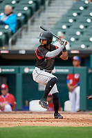 Indianapolis Indians Jason Martin (2) at bat during an International League game against the Buffalo Bisons on June 20, 2019 at Sahlen Field in Buffalo, New York.  Buffalo defeated Indianapolis 11-8  (Mike Janes/Four Seam Images)