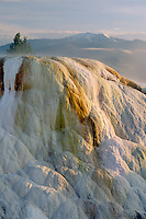 Cupid Spring and Sheep Mountain<br /> Mammoth Hot Springs<br /> Yellowstone National Park<br /> Rocky Mountains,  Wyoming