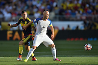 Santa Clara, CA - Friday June 03, 2016: United States midfielder Michael Bradley (4) and Colombia midfielder James Rodríguez (10) during a Copa America Centenario Group A match between United States (USA) and Colombia (COL) at Levi's Stadium.
