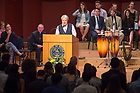 May 19, 2018; 2018 Laetare Medalist Sister Norma Pimentel, M.J., gives the blessing at the Center for Social Concerns, 2018 Service Send-Off in the Leighton Concert Hall of DeBartolo Performing Arts Center.  (Photo by Barbara Johnston/University of Notre Dame)