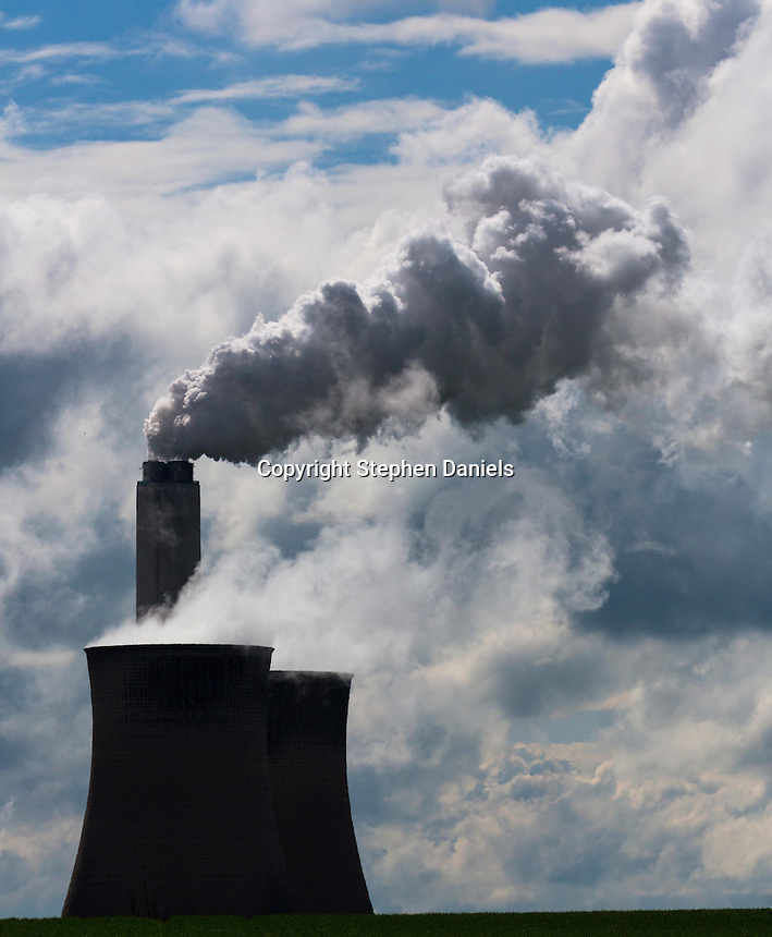 PHOTO  BY © STEPHEN DANIELS<br /> Power Station tower with smoke coming out.
