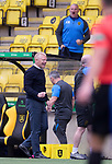 16.08.2020 Livingston v Rangers: Livingston manager Gary Holt laughs at the full time whistle getting a share of the points with Rangers