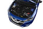 Car Stock 2017 Nissan Maxima S 4 Door Sedan Engine high angle detail view