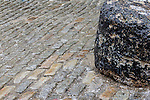 Cobblestones in North Square, Boston, Massachusetts, USA