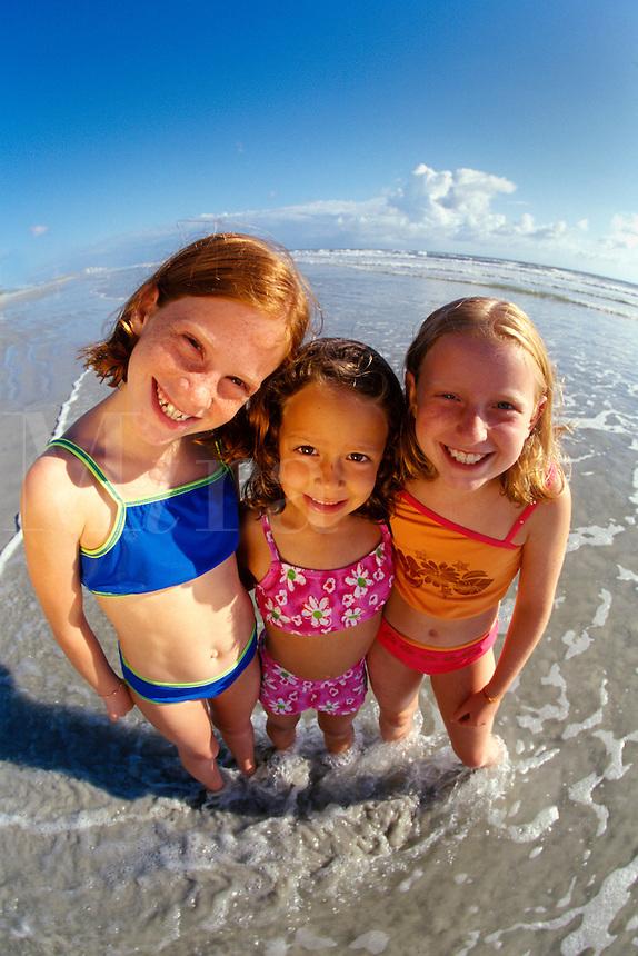 Girl friends at the beach.