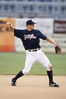 July 10, 2009:  Second Baseman David Adams of the Tampa Yankees during a game at George M. Steinbrenner Field in Tampa, FL.  Tampa is the Florida State League High-A affiliate of the New York Yankees.  Photo By Mike Janes/Four Seam Images
