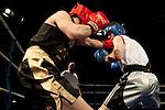 Charlie Salmon (Sheffield University) red corner v Jack Garety (Sheffield Hallam University) blue corner
