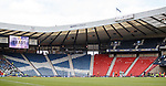 Not many fans at Hampden for the first cup semi